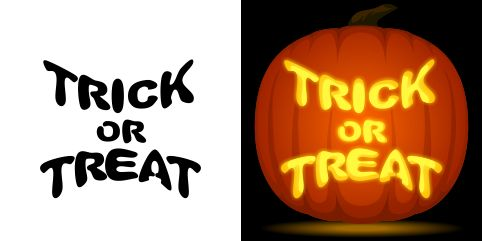 8 best halloveen stencil images on pinterest halloween for Trick or treat pumpkin template