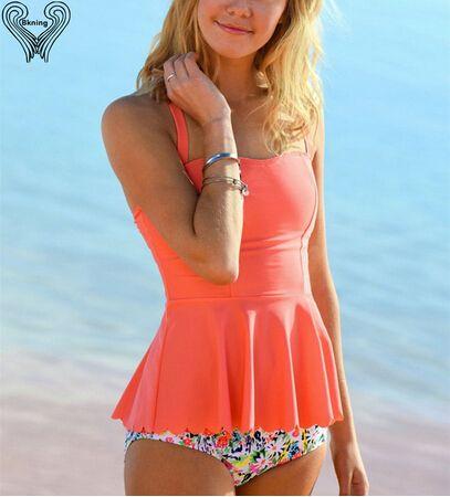 Girls Modest Swimsuit Cute Junior Ruffle Swimwear Female Tankini Bathing Suit 2017 Retro Teenager Girl Push Up Beachwear h282 https://www.aliexpress.com/store/513385