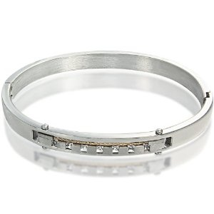 316L Stainless Steel Bracelet with Single Gold Plated Rope Strand Inlay & CZ Stones (Jewelry)  http://flavoredwaterrecipes.com/amazonimage.php?p=B007O22528  B007O22528Gold Plates, Stones Jewelry, 316L Stainless, Strand Inlay, Steel Bracelets, Ropes Strand, Single Gold, Plates Ropes, Stainless Steel