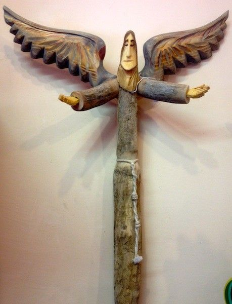 Hand Carved Angels By Famous Santero Pete Ortega Made