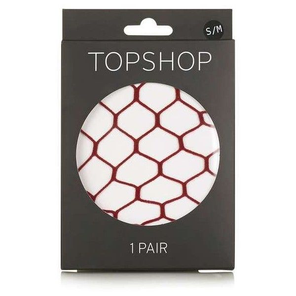 TopShop Supersize Fishnet Tights ($8.28) ❤ liked on Polyvore featuring intimates, hosiery, tights, red tights, red fishnet stockings, red pantyhose, mini stockings and red fishnet tights