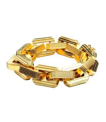 Shop the season's chicest statement pieces at #ShopBAZAAR - Eddie Borgo Large Supra Link Bracelet
