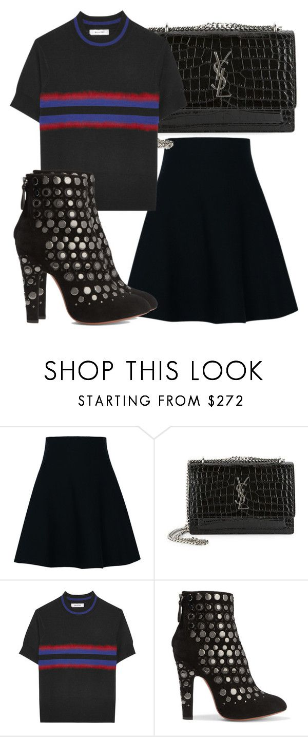 """Untitled #3682"" by beatrizvilar on Polyvore featuring Dorothee Schumacher, Yves Saint Laurent, Tim Coppens and Alaïa"