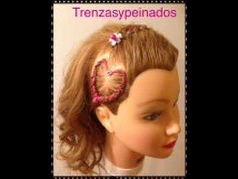 Trenzas para ni as peque o corazon braids for girls - Trenzas para nina ...