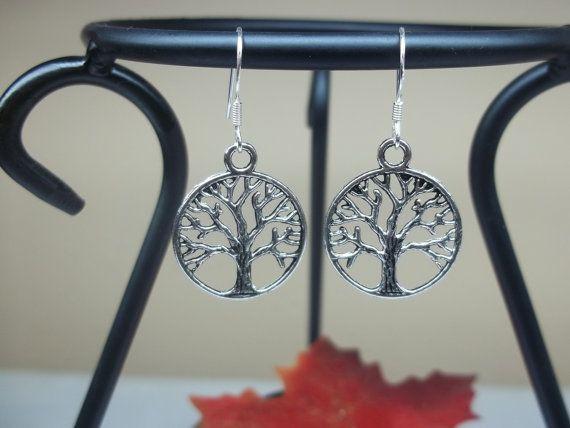 Tree of Life Earrings, Dangle Earrings, 925 Sterling Silver Earrings Amity Divergent Inspired Earrings BuyAny3+Get1Free