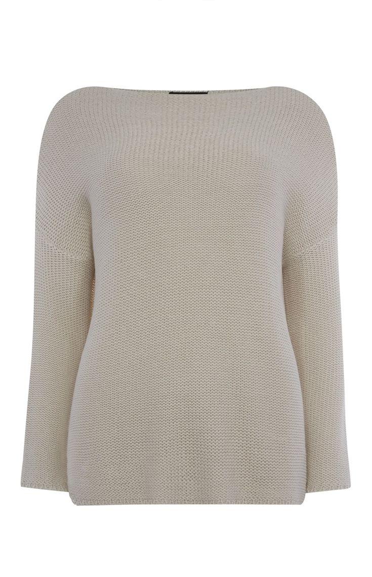 Primark - Verdraaid gebreide crèmekleurige trui