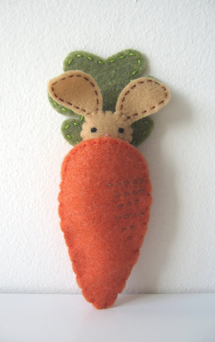 bunny in a carrot pocket... adorable
