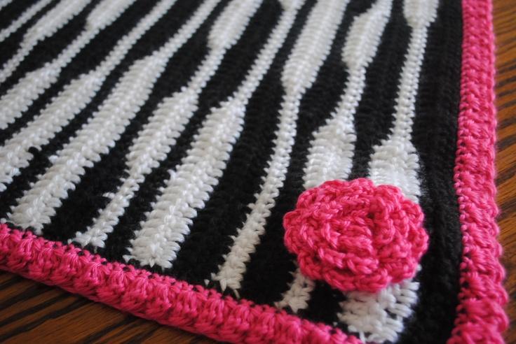 zebra newborn blanket Free Easy Crochet Patterns ...