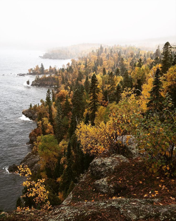 Nature Beautiful Scenery Foggy Cliffside On Lake Superior Silver Bay Mn Oc Photography Inspiration Nature Nature Photography Beautiful Photography Nature
