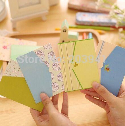 Визитные карточки Сладкий стиле кантри творческий маленький конверт дизайн универсальный карт 6 шт./компл. поздравительные открытки/s 20 компл./лот