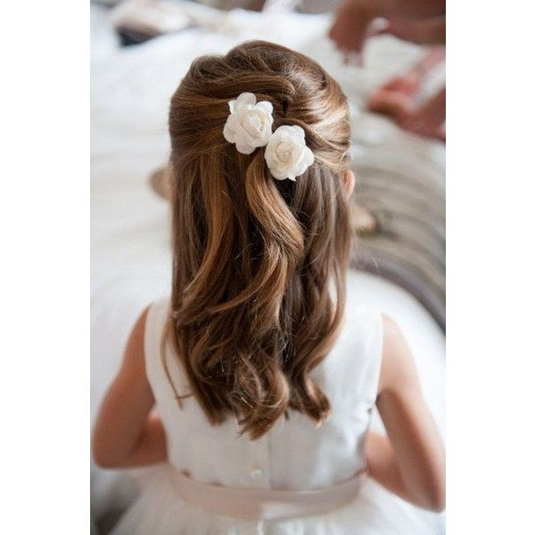 Junior Bridesmaid Hairstyles ❤ liked on Polyvore                                                                                                                                                                                 More