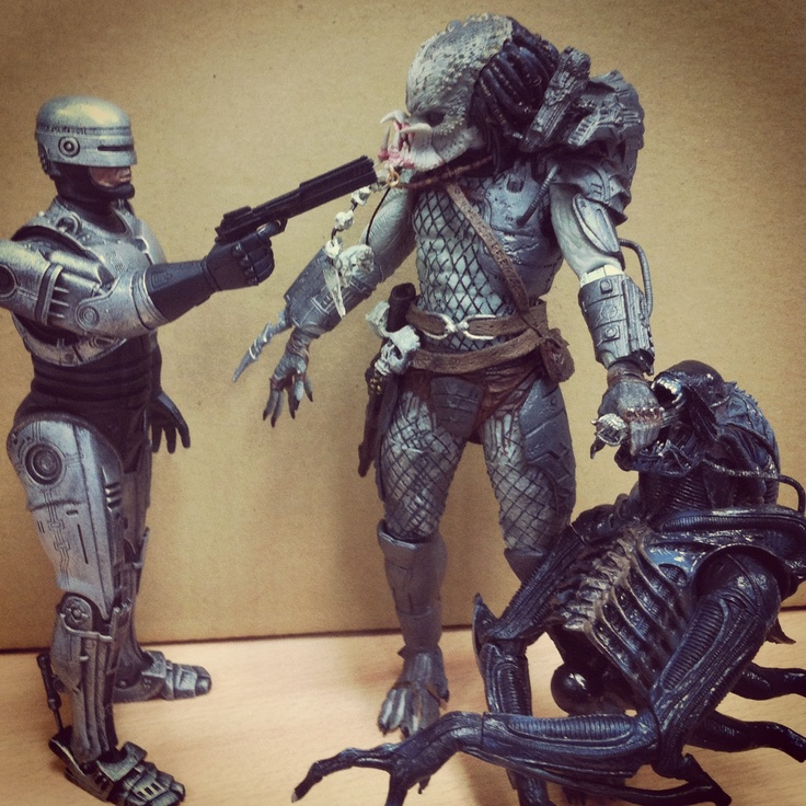 Robocop: You are under arrest Predator: who, me or him?