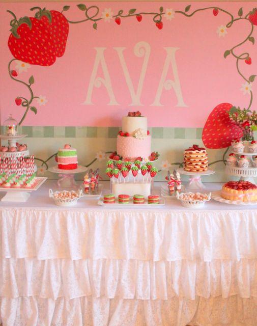 Photo 1 of 21: Strawberry Shortcake / Birthday Avas Strawberry Shortcake Party   Catch My Party