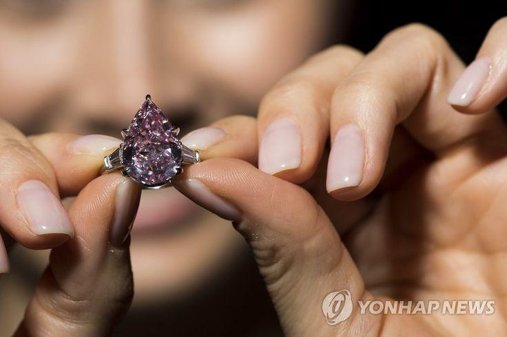 크리스티 경매 등장한 핑크 다이아몬드