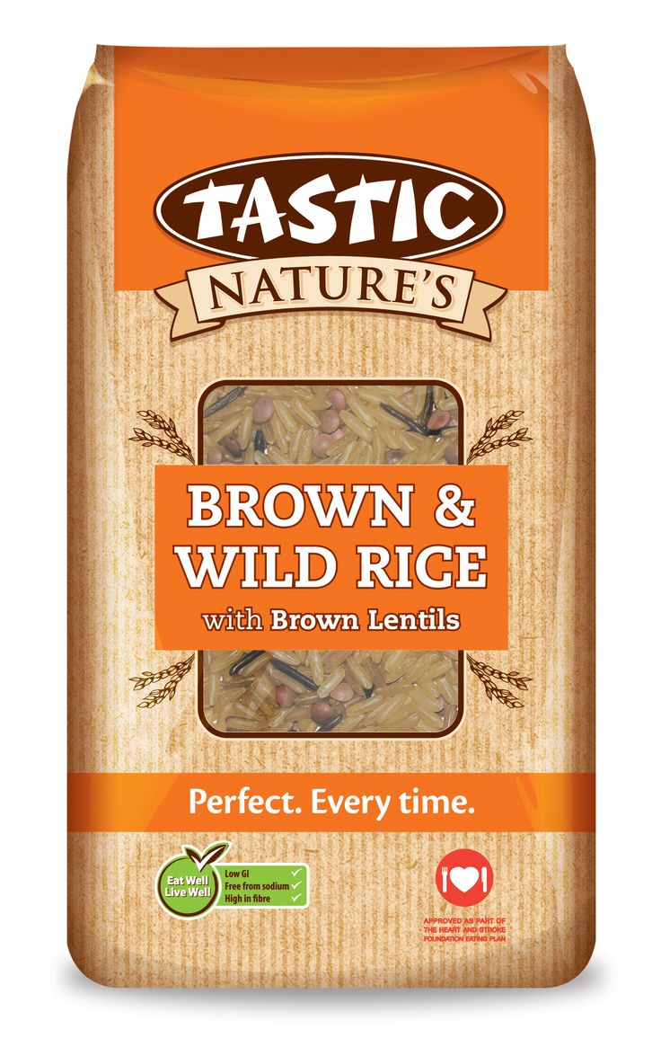 Tastic Brown and Wild Rice with Brown Lentils 1kg