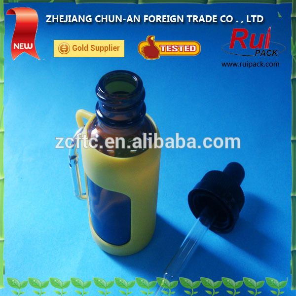 Source HOT SALED! Glass dropper bottles with keychain, e-liquid dropper bottle with silicone holder / siicone case on m.alibaba.com