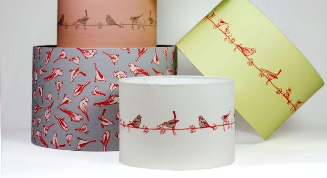 Pretty bird lampshades