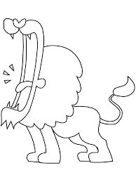 Realistic lion roaring coloring pages for Realistic lion coloring pages