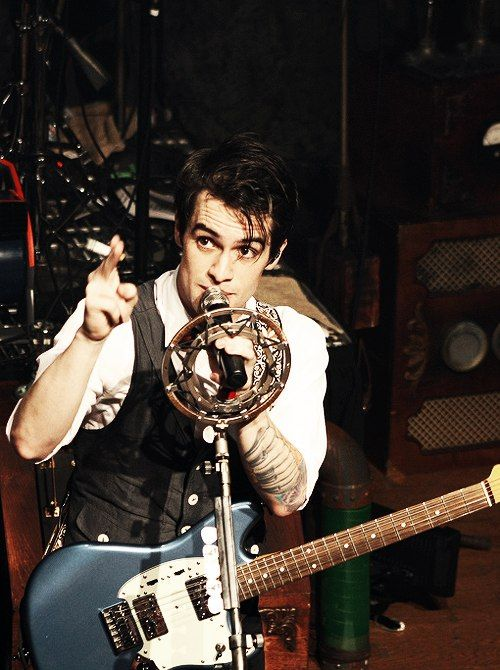 Brendon Urie. I enjoy his tattoo on his forearm