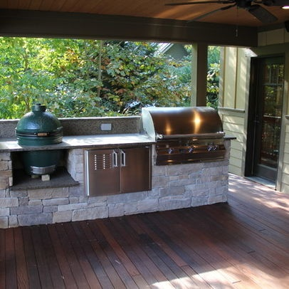 Green egg cooking station google search back porch for Simple outdoor kitchen designs