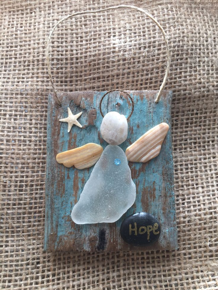 Beachcomber angel by BeachcombercraftArt on Etsy https://www.etsy.com/listing/505242196/beachcomber-angel