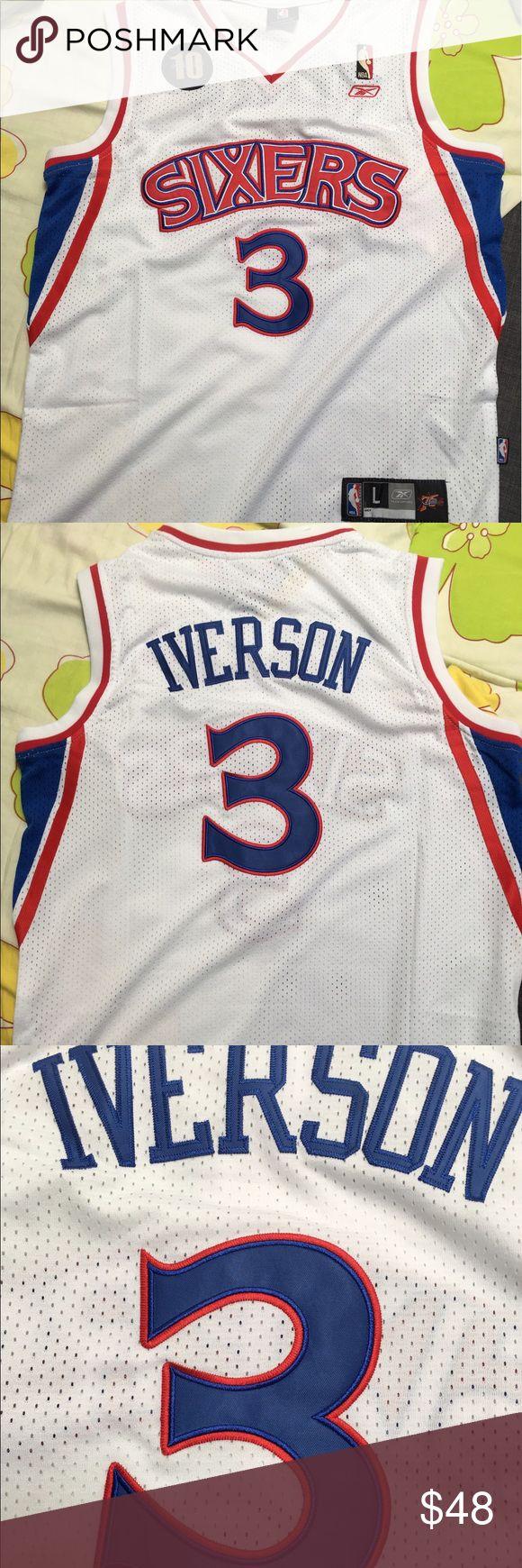 Allen Iverson phila 76ers swingman jersey 100% brand new with tag Allen Iverson #3 Philadelphia sixers swingman jersey Reebok Shirts