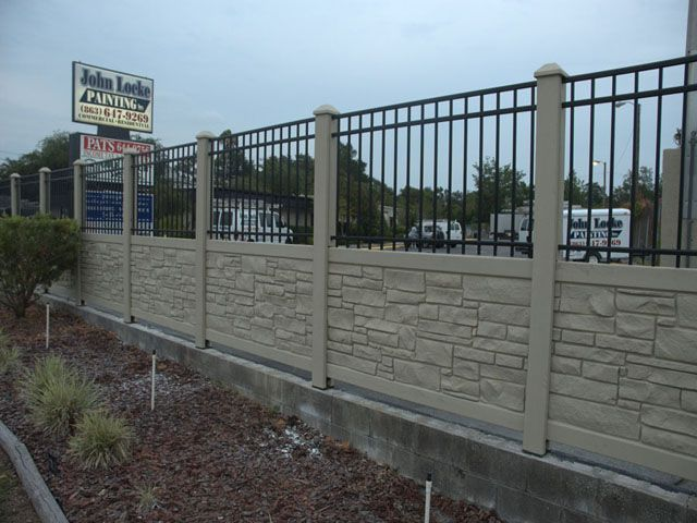 17 Best Ecostone Rock Fencing Images On Pinterest