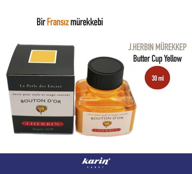 Bir Fransız mürekkebi  #JHerbin #Mürekkep #Butter #Yellow #karinsanat #france #art #artmaterial #artwork #fineart