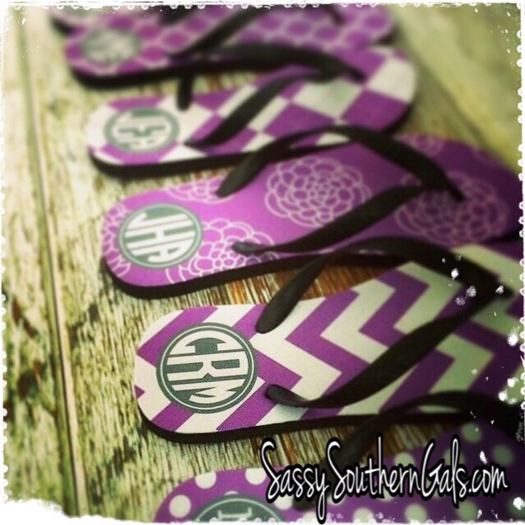 Monogram Flip Flops, Personalized Flip Flops, Monogrammed Sandals, Monogrammed Gift by SassySouthernGals on Etsy https://www.etsy.com/listing/202859631/monogram-flip-flops-personalized-flip