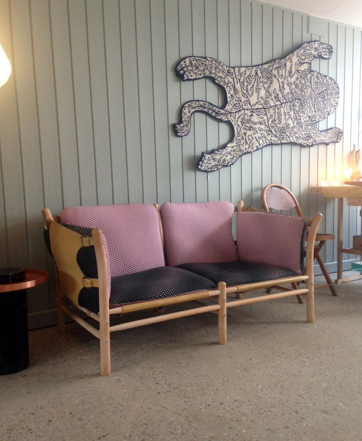 Vintage, Swedish design sofa. New upholstery done in a wool fabric from Danish Kvadrat.