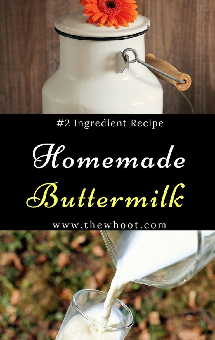 Learn how to make buttermilk recipe using only 2 simple ingredients. This couldn't be simpler and you will never buy store bought again. Watch the video.