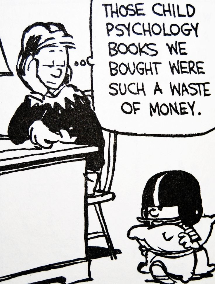Calvin and Hobbes. Child psychology