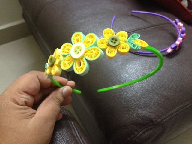...kraftaria..: Crochet and quilling hair band
