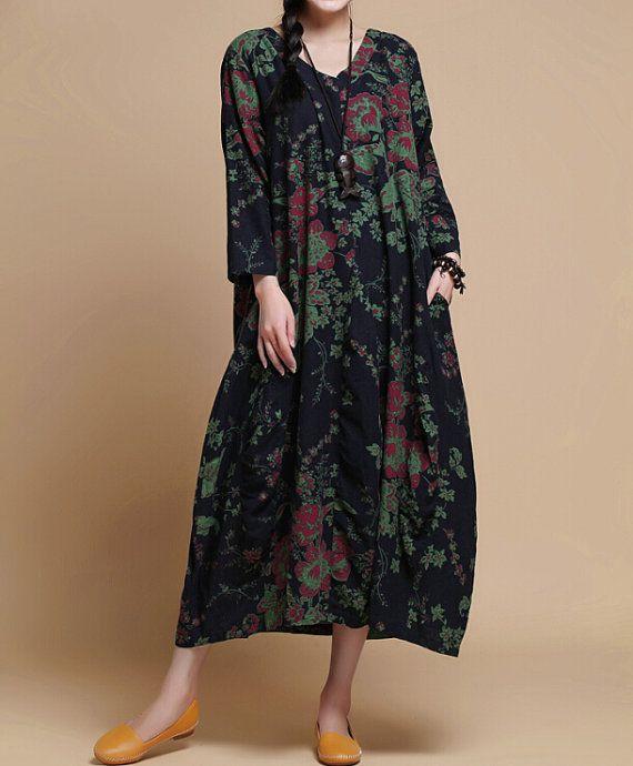 Women Loose fitting Long robe/ Long Maxi Dress/ Women Long Gown