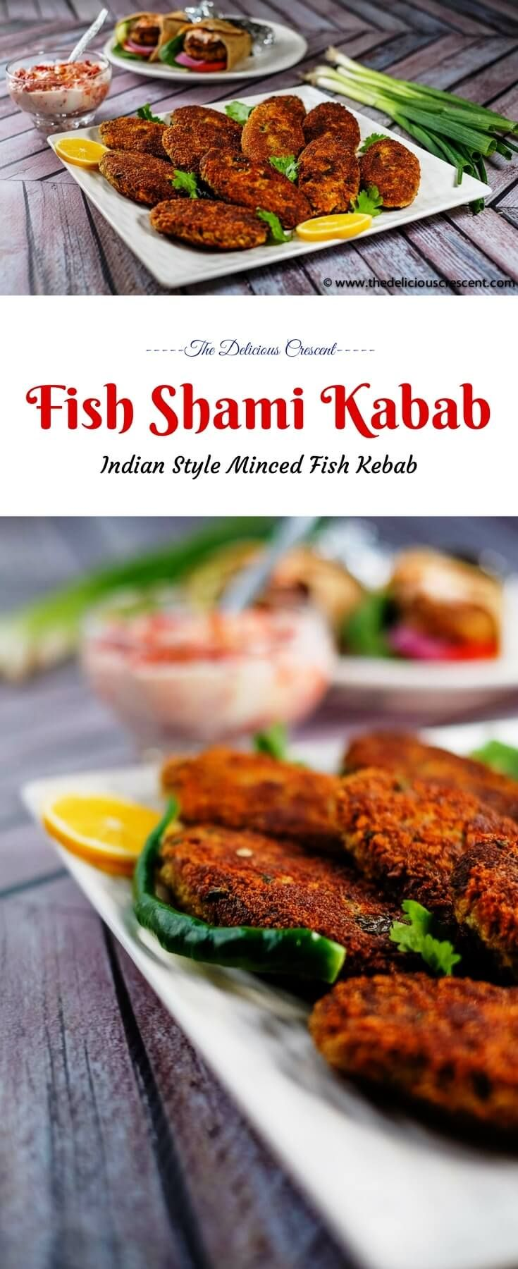Fish Shami Kabab - crispy on the outside, soft and spicy in the center, these scrumptious flavor rich patties are an excellent snack or appetizer. And they provide a good amount of protein and healthy fats.  #shami #kabab #salmon #appetizer #lowcarb #Indianrecipes #easyrecipe #freezerfriendly #fish #snack  via @TDCrescent