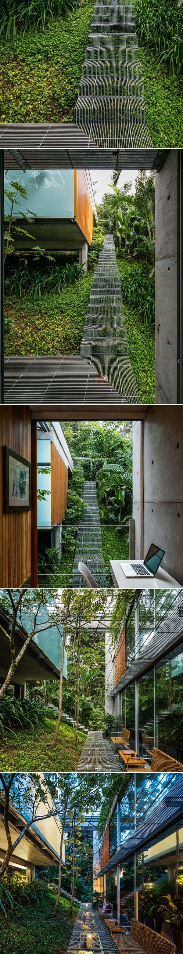 Landscape Design Idea – Low impact stairs that allow plants to grow below them | CONTEMPORIST