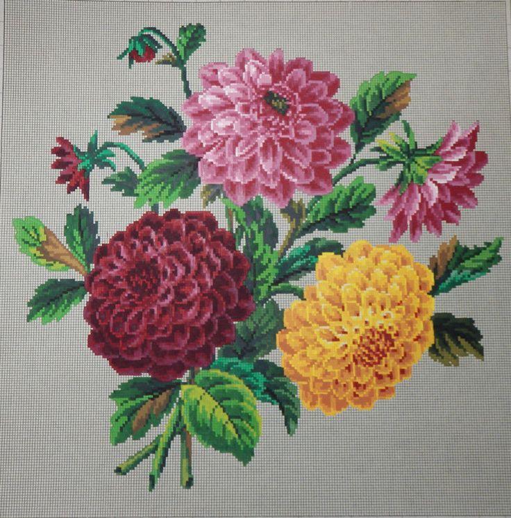 Антикварный Берлин вручную-окрашенный Woolwork график 19-го века. А. Тодт в Берлине   ибее