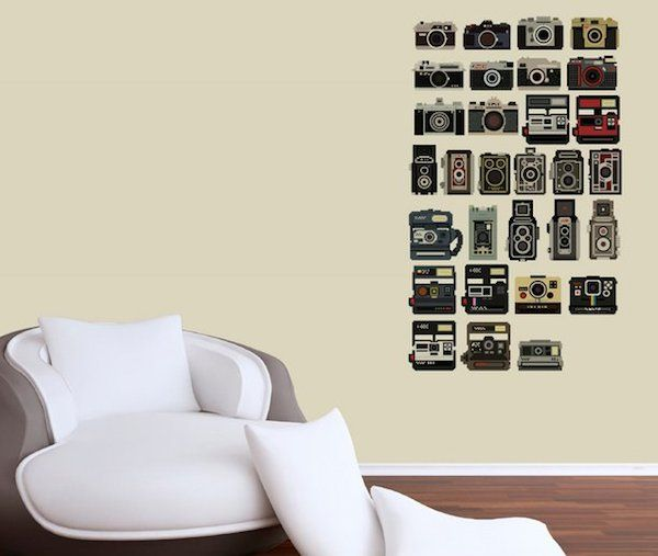 Pixel Perfect Camera Decals / The Pixel Perfect Camera Decals are an incredible creation by graphic designer and pixel art specialist Bill Brown. http://thegadgetflow.com/portfolio/pixel-perfect-camera-decals/