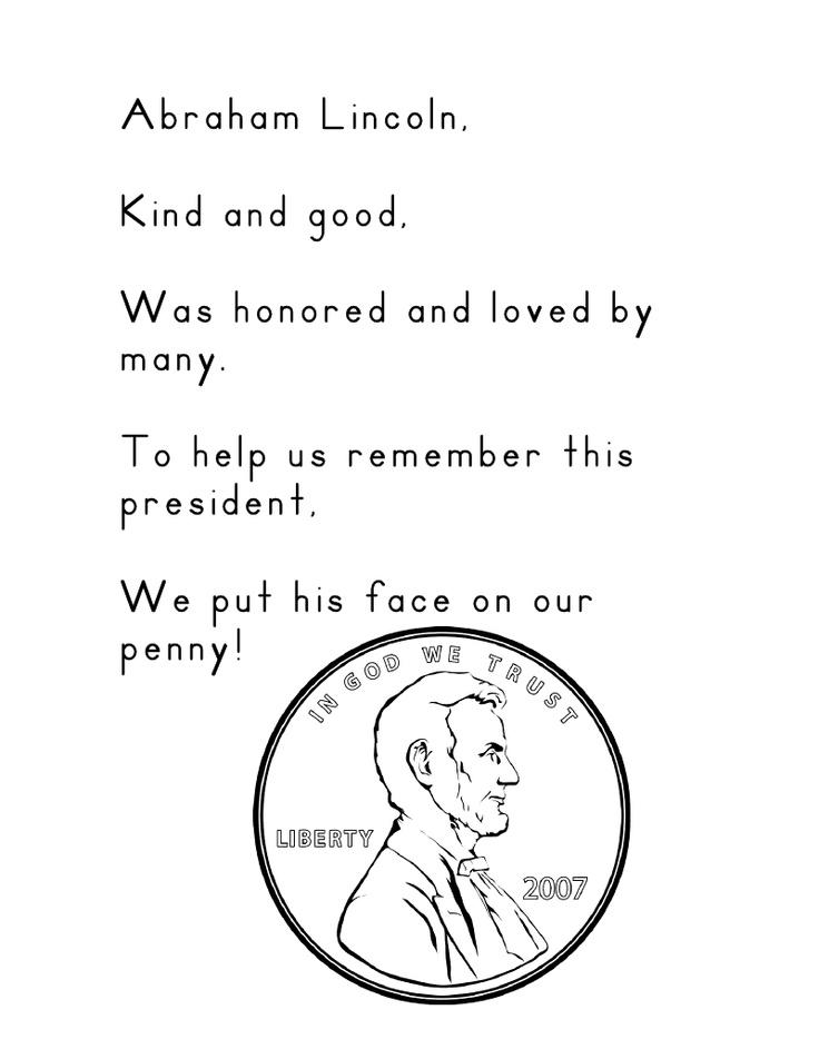 abraham lincoln poem presidents day pinterest poem