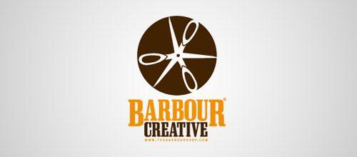 barbour scissors logo design