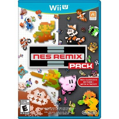 NES Remix Pack (Nintendo Wii U) (045496903374) The nes remix pack for nintendo wii u is exactly what it sounds like: a new twist on 16 classic games. Complete with 8-bit graphics for the actual gameplay, this collection will get your nostalgia going. The nes remix pack includes 204 challenges taken from 16 beloved titles, including super mario bros., the legend of zelda, donkey kong, ice climber, excitebike, and balloon fight among others. But every challenge has a twist; every game's been…