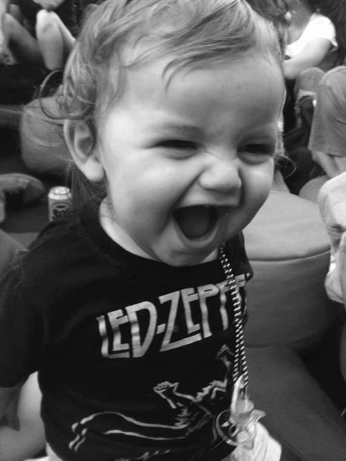 Good parenting. Led Zeppelin t-shirt