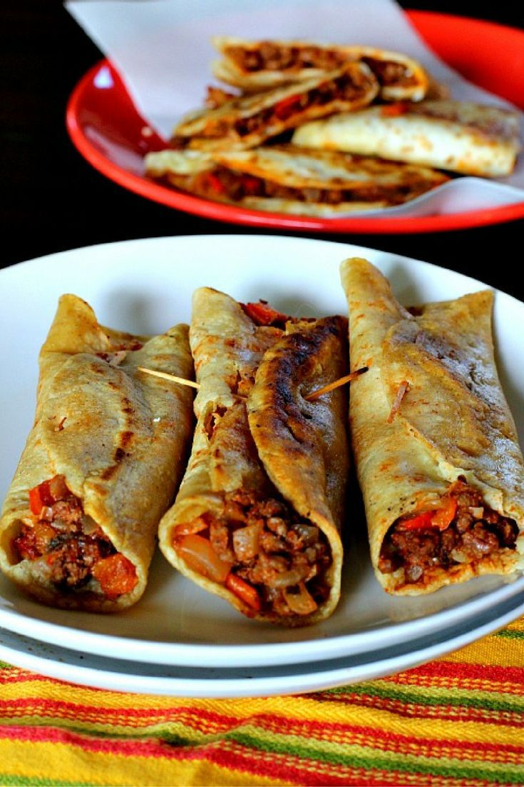 Crisp up your next taco night with this Fried Taco recipe. Using both corn and flour tortillas and a savory and tomato spiced ground beef mixture. These are a wonderful version of tacos.