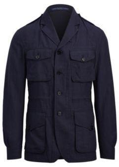 Ralph Lauren Linen-Wool Field Sport Coat Navy And Dark Navy 48