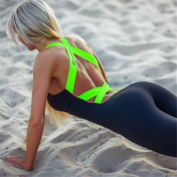 Hot sale Europe and America the new summer 2016 gym fitness clothing suit for women Running tight jumpsuits sports yoga sets AA * Check this awesome product by going to the link at the image.