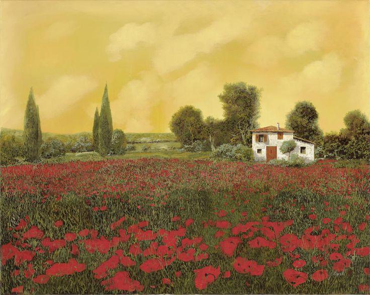 I Papaveri E La Calda Estate by Guido Borelli - I Papaveri E La Calda Estate Painting - I Papaveri E La Calda Estate Fine Art Prints and Posters for Sale