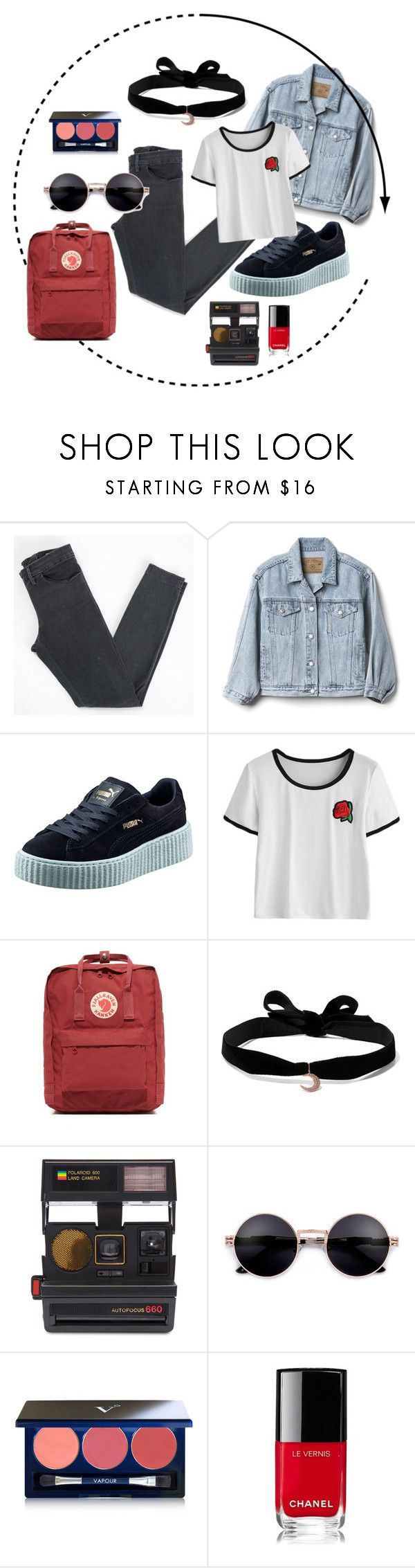 """Sin título #247"" by camilazeballo on Polyvore featuring moda, Acne Studios, Gap, Puma, Fjällräven, Aamaya by Priyanka, Impossible Project, Vapour y Chanel"