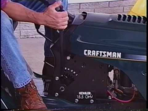 CRAFTSMAN Lawn & Garden Tractor Use and Maintenance Guide -VHS, 1999 [1 of 3]