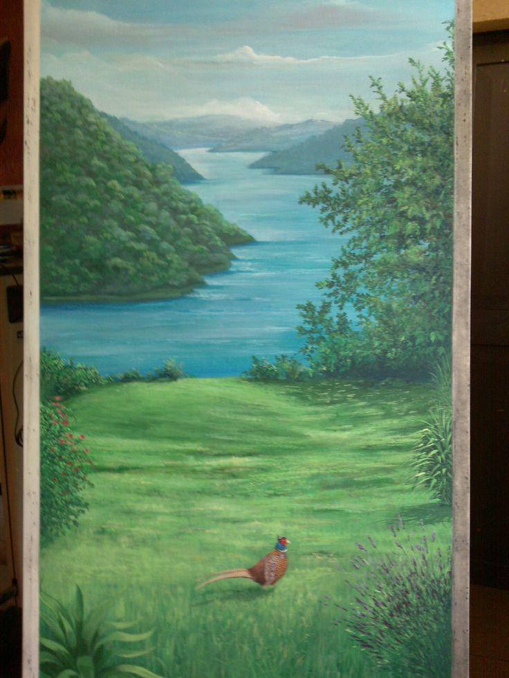 Porta dipinta - particolare