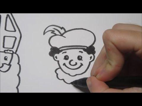 Sinterklaas & Zwarte Piet leren tekenen in stappen!